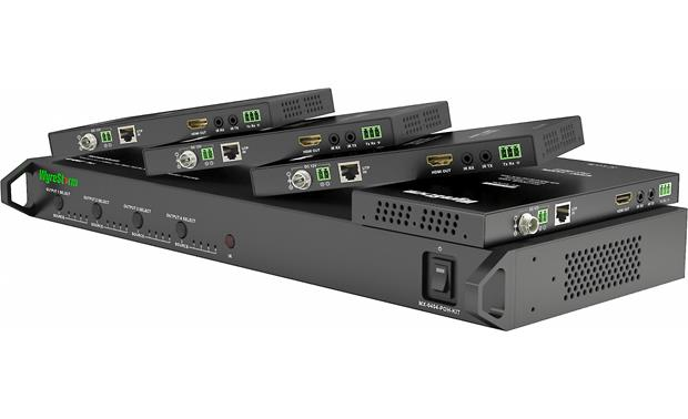 WyreStorm HDBaseT™ MX-0404-POH-KIT Matrix switcher and the four included receivers