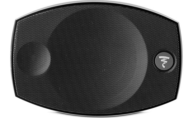 Focal Sib Evo Dolby Atmos® 5.1.2 One Sib Evo speaker sits horizontally as the center channel