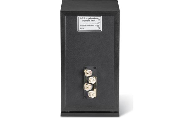 Wharfedale Diamond 220 Dual binding posts allow for bi-amping or bi-wiring