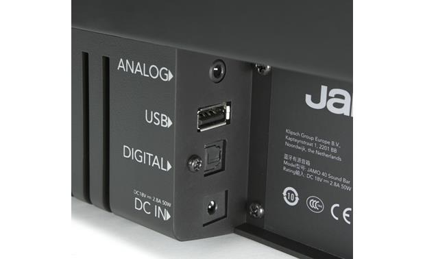 Jamo SB 40 Back-panel audio connections