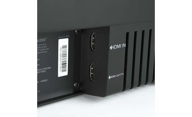 Jamo SB 40 Back-panel HDMI connections (4K/HDR ready)