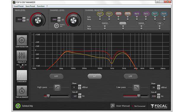 Focal FSP-8 DSP MANAGER: Crossovers