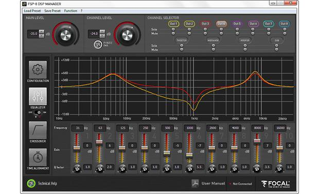 Focal FSP-8 DSP MANAGER: Equalizers