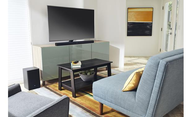 JBL Bar 2.1 Fits neatly into your TV setup