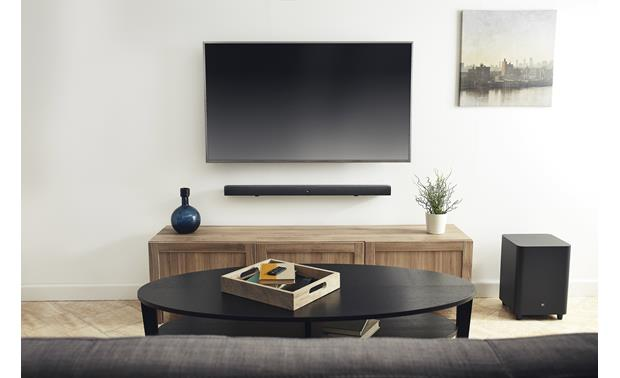 JBL Bar 3.1 Fits neatly into your TV setup and delivers powerful sound for shows and movies