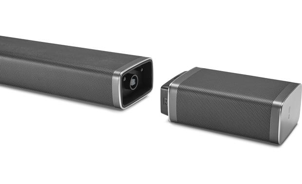 JBL Bar 5.1 Recharge the wireless surround speakers by attaching them to the sound bar