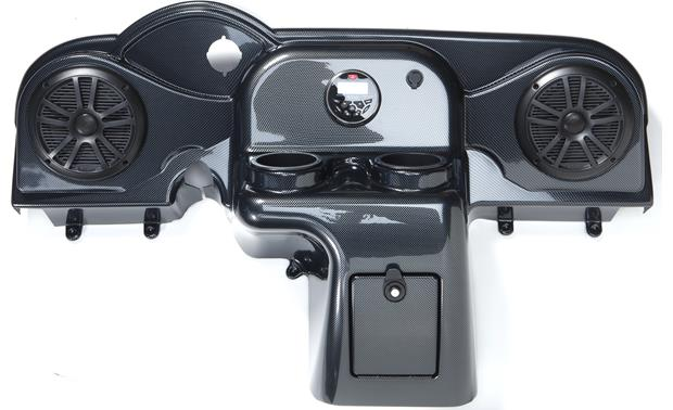 Boss/VIP Golf Cart Sound System System with Carbon Fiber dash kit