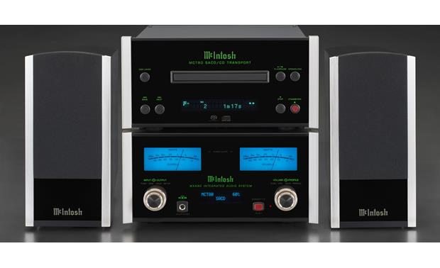 McIntosh MCT80 Shown with McIntosh MXA80 integrated amp and bookshelf speakers (not included)