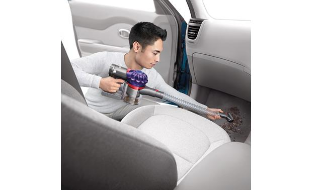 Dyson V7 Car+Boat The included extension hose gives you several feet of extra reach