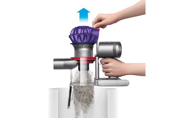 Dyson V7 Car+Boat One-touch emptying keeps your hands clean