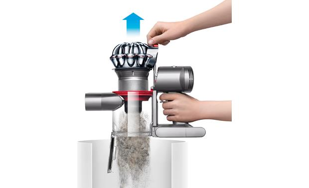 Dyson V7 Trigger One-touch emptying keeps your hands clean