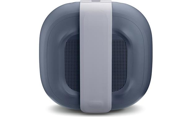 Bose® SoundLink® Micro <em>Bluetooth®</em> speaker Blue with gray strap - back