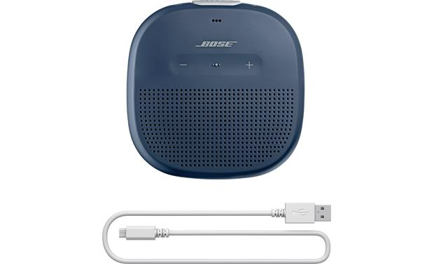 Bose® SoundLink® Micro <em>Bluetooth®</em> speaker Blue with gray strap - charging cable included