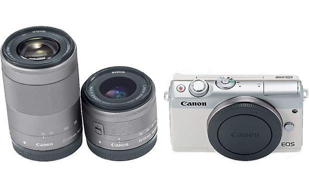 Canon EOS M100 Two Lens Kit Front