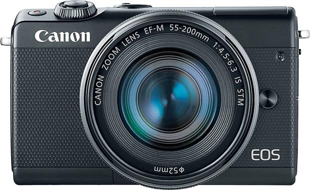 Canon EOS M100 Two Lens Kit Front, straight-on