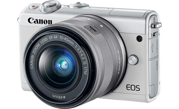 Canon EOS M100 Two Lens Kit Angled front view