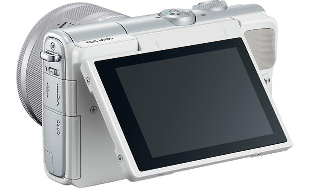 Canon EOS M100 Two Lens Kit Touchscreen tilts upward for easy composition from low angles