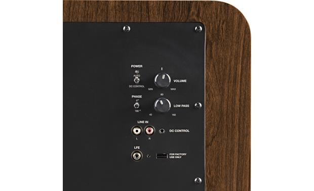 Polk Audio HTS 10 Rear-panel controls