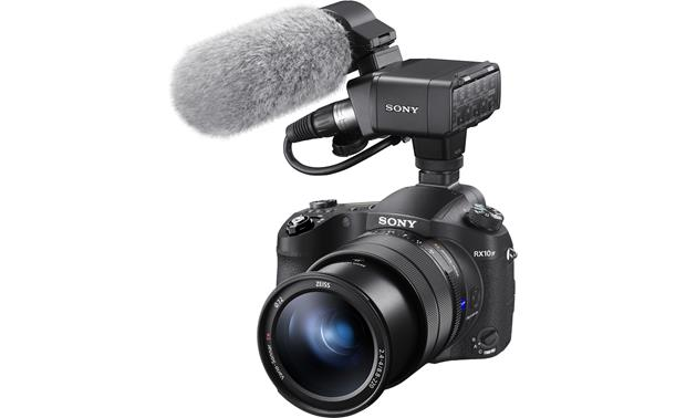 Sony Cyber-shot DSC-RX10M4 Shown with optional video microphone attached (not included)
