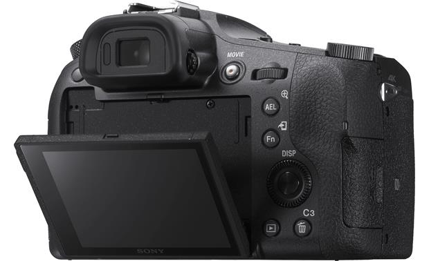 Sony Cyber-shot DSC-RX10M4 Shown with touchscreen tilted downward