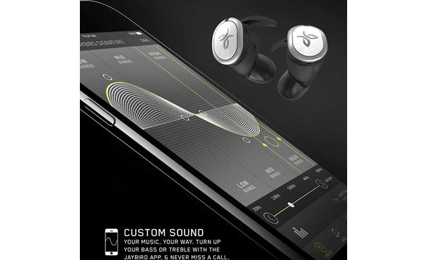 Jaybird RUN Free, downloadable Jaybird app lets you customize the sound and find lost earbuds (phone not included)