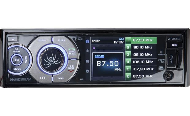Soundstream VR-345B Play DVDs, USB and SD card music, and Bluetooth wireless audio