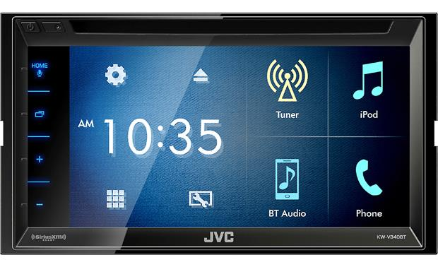 JVC KW-V340BT Let this touch-friendly receiver guide you through your media