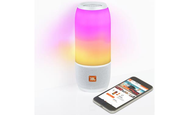 JBL Pulse 3 White - customizable colors and patterns with JBL Connect app (smartphone not included)