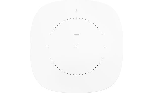 Sonos One White - top-mounted controls