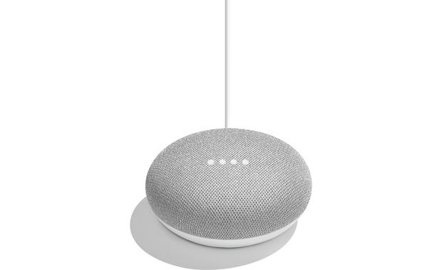 Google Home Mini LED lights indicate when Google Assistant is listening and preparing answers