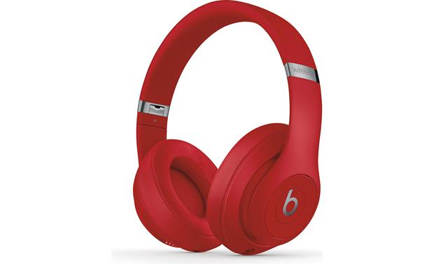 Beats By Dr Dre Studio3 Wireless Red Over Ear Noise Canceling Bluetooth Headphones With Apple W1 Chip At Crutchfield