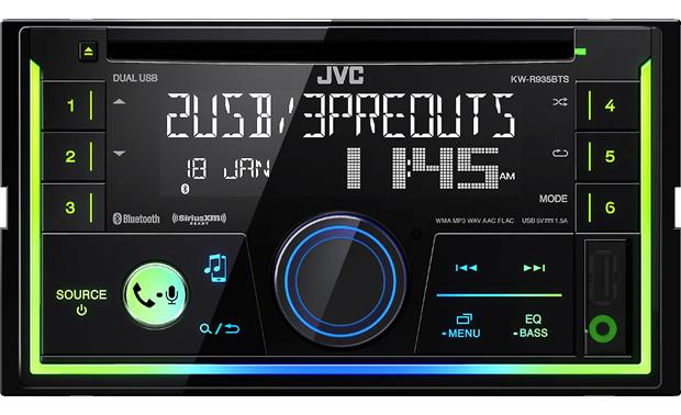 "JVC KW-R935BTS This 4"" tall CD receiver offers a clean look and easy access to all your music sources"