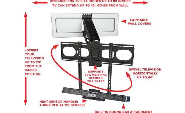 Mantel Mount MM540 — Factory Refurbished Full-motion mount