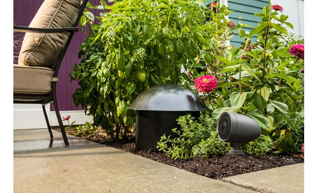 Jamo JL-4810 Subwoofer and speakers can be hidden away in your landscaping
