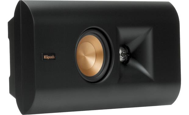 Klipsch Reference Premiere RP-140D Angled view, wall-mounted, grille off