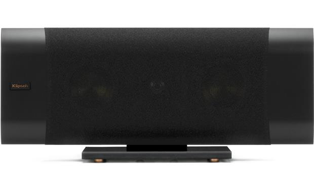 Klipsch Reference Premiere RP-240D Horizontal, on glass base, grille on