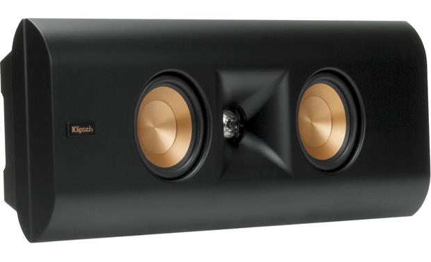 Klipsch Reference Premiere RP-240D Angled view, wall-mounted, grille off
