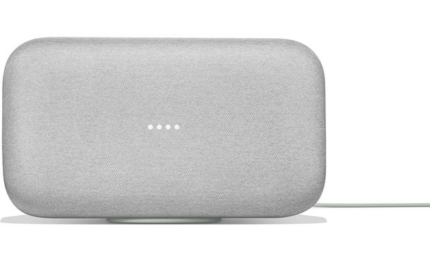 Google Home Max Voice-activated powered speaker that automatically optimizes its sound to your room