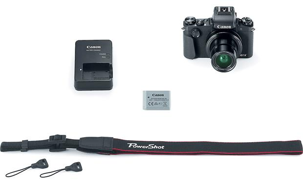 Canon PowerShot G1 X Mark III Shown with included accessories