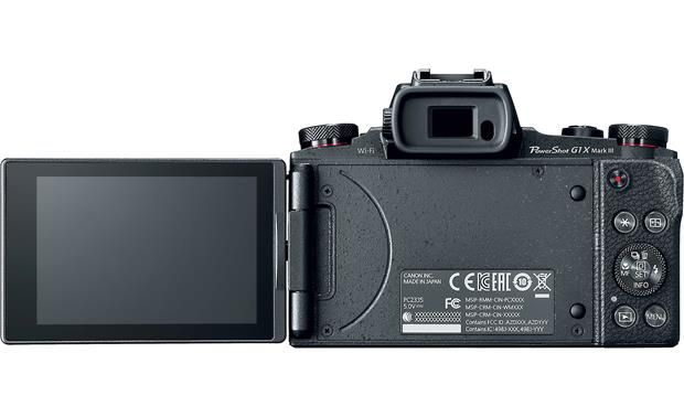 Canon PowerShot G1 X Mark III Back, with touchscreen flipped out