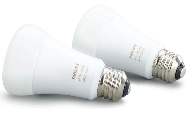 Philips Hue 2.0 A19 White Ambiance Bulbs Front