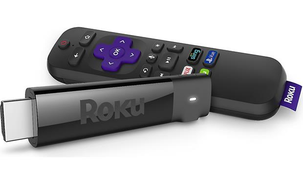 Roku Streaming Stick+ Streaming stick and included remote