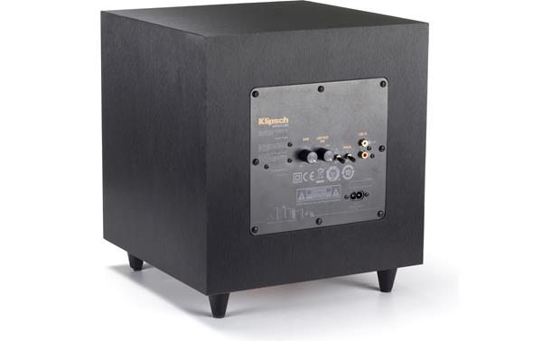 Klipsch Reference Theater Pack Back of powered subwoofer