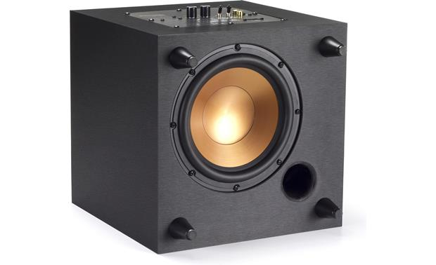 Klipsch Reference Theater Pack Down-firing woofer (shown with sub on its side)