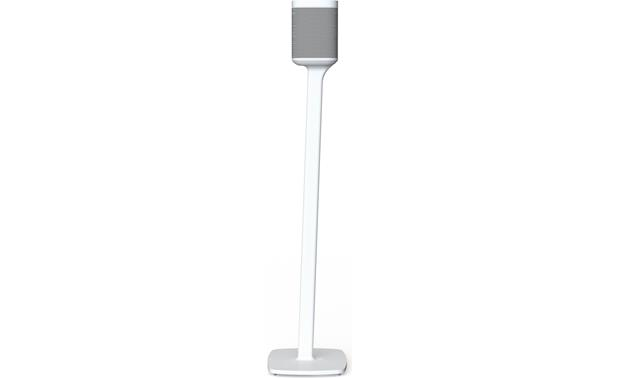Flexson Floor Stands  (pair) White - front (speaker not included)