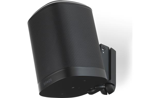 Flexson Wall Mount for Sonos One Black - can hold speaker upside down for control button access (Sonos One not included)