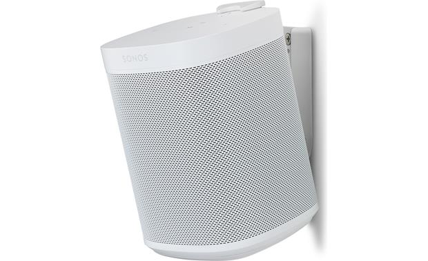 Flexson Wall Mounts for Sonos One White - right front (Sonos One not included)