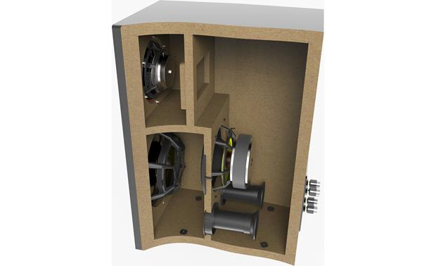 ELAC Adante AS-61 Cutaway view of speaker cabinet