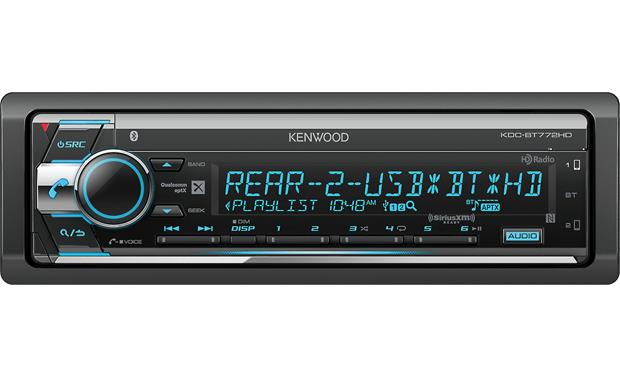 Kenwood KDC-BT772HD With two USB ports, Bluetooth, and lots of radio options, this stereo is ready for all your music