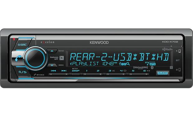 Kenwood Excelon KDC-X702 This musical powerhouse has a built-in HD Radio tuner, Bluetooth with aptX, and works with a smartphone control app